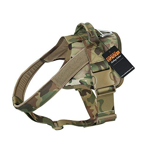 EXCELLENT ELITE SPANKER Tactical Dog Harness Patrol K9 Harness Service Dog Vest Military Dog Vest Working Dog Vest with Handle(MCP-XL)
