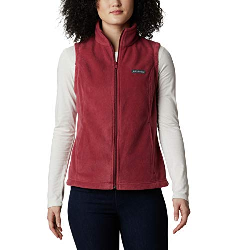 Columbia womens Benton Springs Soft Fleece-vest Fleece Vest, Marsala Red, Medium US