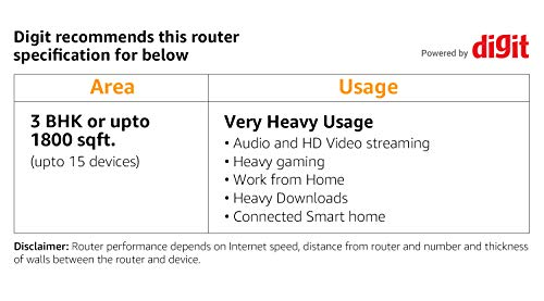TP-Link Archer AX10 Wi-Fi 6 WLAN Router (1202 Mbit/s 5 GHz, 300 Mbit/s 2,4 GHz, 4 × Gigabit LAN-Ports, Access Point Modus, HomeCare,kompatibel mit Alexa), schwarz