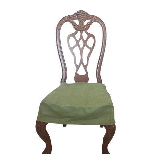 OctoRose Classic Micro Suede Set of Two Chair Covers Chair Seat Covers,Chair Protector (SageGreen)