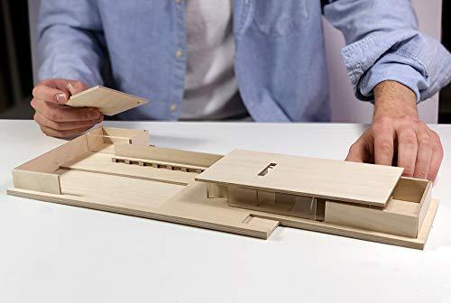 Mies Van der Rohe Barcelona-Pavillon Modell 1:150 - Hochwertige Replik. Bauhaus Do it Yourself...
