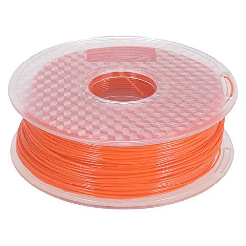 Accesorios de impresora PETG 3D filamento de impresora 1.75mm 1KG bobina de 2.3lb ampliamente compatible con impresión 3D naranja translúcido