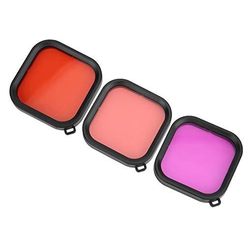 FOLOSAFENAR Filtro de Lente de desviación de Color Correcta, Filtro de Lente de Buceo, para bucear para Grabar Videos de fotografía