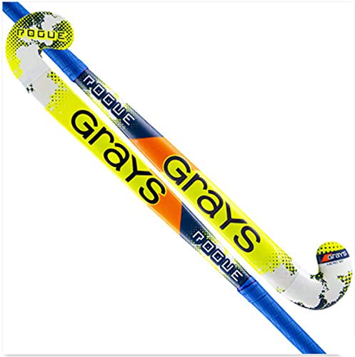 GRAYS Rogue Palo Hockey Hierba, Juventud Unisex, Azul/Amarillo, 34