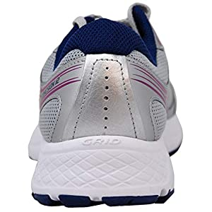 Saucony Women's VERSAFOAM Cohesion 12 Grey/Navy/Purple Road Running Shoe 9 Medium US