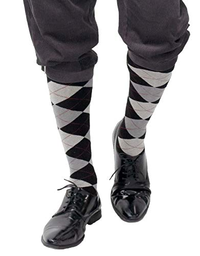 shoperama Medias con patrn de rombos de los aos 20, para hombre y mujer, accesorio para disfraz