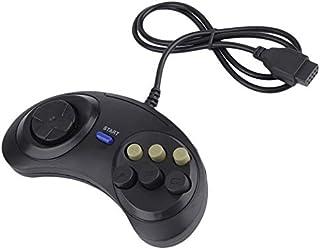 Ensemble de manette de jeu Joypad Joystick for Sega Md2, Mac Mega Drive Accessoires pour jeux Noir