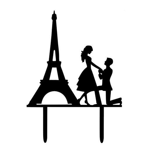Bruidstaart Topper voorgestelde Cake bruiloft, acryl taart topper voor Picks Stand acryl Parijs toren bruiloft partij taart Decor