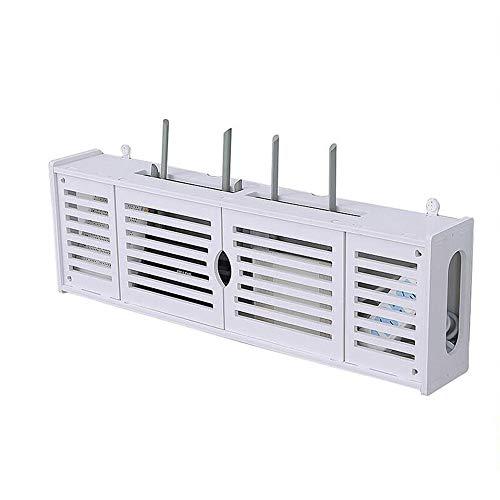 Xyanzi-Schweberegale WLAN-Router-Kabelstecker Aufbewahrungsbox Für Draht Wandmontage Schwimmrahmen Ablageboden Weiß Funktionelles Ablagefach