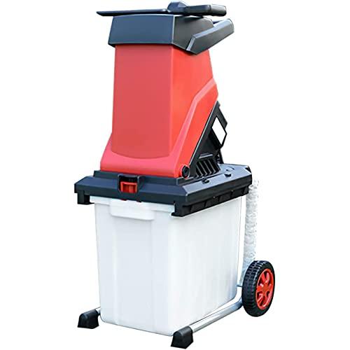ZJWD Trituradora trituradora de Madera eléctrica de 2500 W, trituradoras de Ramas de jardín, trituradora de Alta Potencia, trituradora de Ramas de árboles eléctrica, Herramienta de jardín