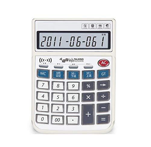 Calcolatrice Calcolatrice Desktop Vocale Display A 12 Cifre Con Batteria Bottone Di Cristallo Pronuncia Umana Reale Speciale Finanziario