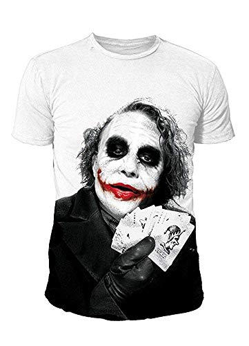 DC Comics - Batman Herren T-Shirt - Joker Why so Serious (Weiss) (S-XL) (S)