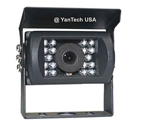YanTech USA CCD High Resolution 700TVL Infrared Rear View Backup Camera with Wide Angle View, Night Vision, Rain Shield with Standard 4-Pin Connector