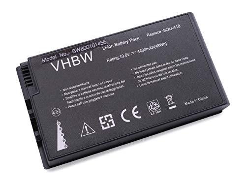 vhbw Akku passend für Advent 7082, 7104, 7106, 7110, V8010, V8010D, Maxdata Pro 6000i Laptop Notebook (Li-Ion, 4400mAh, 10.8V, 47.52Wh, schwarz)