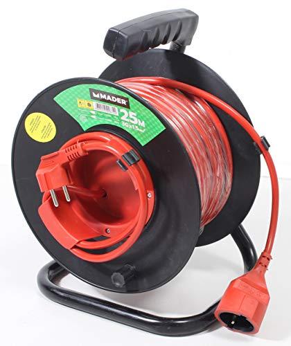 Mader Garden Tools 90674 Rallonge Cordon électrique extérieur Enroulable 25 m x 1,5 mm2-90674