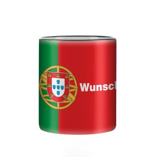 Herz und Heim® Tasse mit Wunschnamen & Flagge - Portugal -