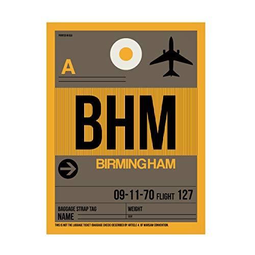 Trademark Fine Art BHM Birmingham Luggage Tag I by NAXART, 24x32, Multiple