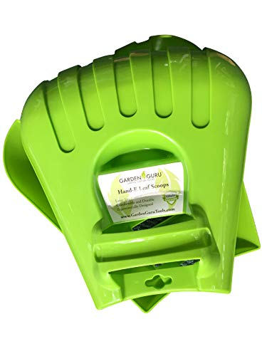 Garden Guru Leaf Scoops Claws, Ergonomic, Large Hand Held Garden Rakes for Fast & Easy Leaf and Lawn Grass Snow Removal