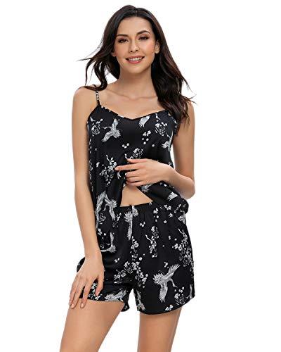 GOSO Pijamas de Mujer - Pijamas Pijamas de Mujer Pijamas sin Mangas Ropa de Dormir para Dama Conjuntos de salón Suaves