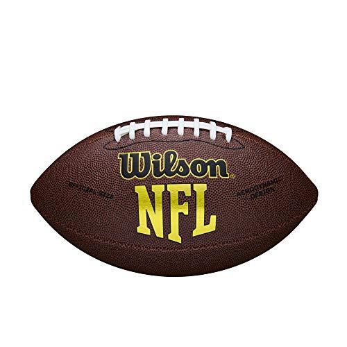 Wilson, American Football, Ballon de football américain, NFL Force, Matériau Composite, Brun, Pour joueurs récréatifs, WTF1445X