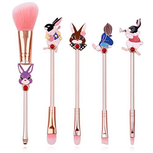 HZD Anime Make-up Pinsel Set Serie Kaninchen Lidschatten Wimpern Augenbrauen Metall Pinsel Kits Pink...