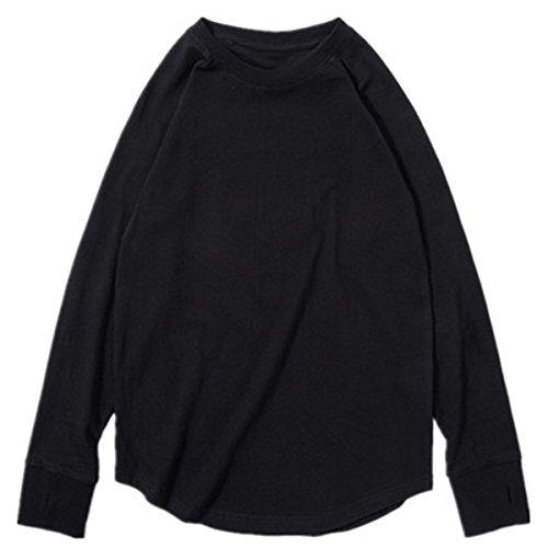 HAOKTY Kinder Jungen Fashion Sweatshirts Cool Langarmshirt Rundhals Sweat Tracksuit Outfits Pullover Streetwear (Schwarz, 140)