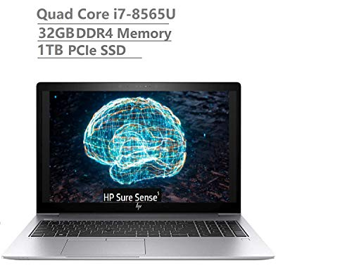 2019 Newest HP Elitebook 850 G6 15.6' Full HD FHD(1920x1080) Business Laptop (Intel Quad-Core i7-8565U Vpro, 32GB DDR4 RAM, 1TB PCIe NVMe SSD) Fingerprint, Backlit, Thunderbolt, B&O, Windows 10 Pro