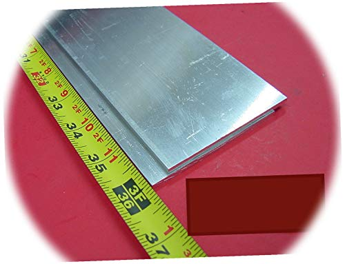 New 2 Pieces 1/8' X 3' Aluminum Metal Flat BAR 36' Long Mill Stock .125'x 3 6DU-1663DE Warranity by KolotovichTool