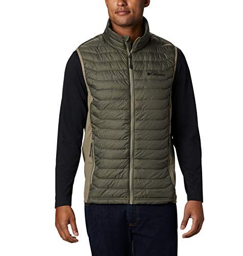 Columbia Powder Pass Chaleco, Hombre, New Olive Heather, Sage, S