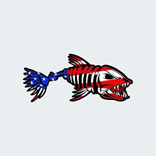 "USA Bonefish Sticker Decal Self Adhesive Bone Fish bonefishing Patriotic American Flag Fishing 22.00"" Wide"