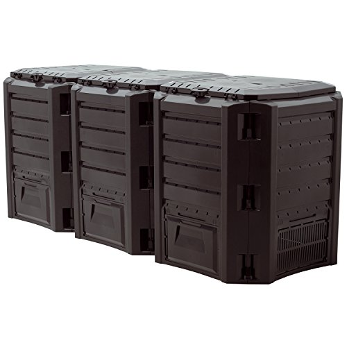 """Prosper Plast iklm1200C-s411198x 71,9x 82,6cm Modul \""""Compogreen Komposter–Schwarz (3 Modul = 67 - Stück)"""