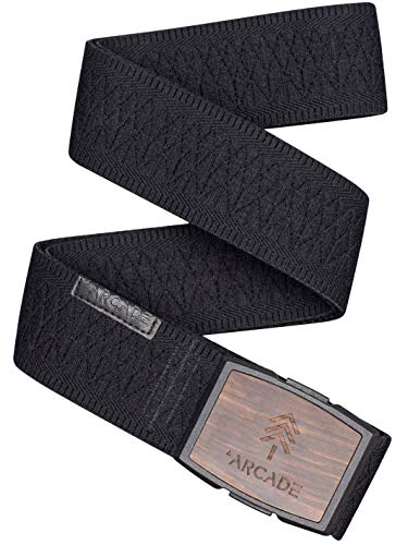 Arcade Belt Mens Capture Vision Belts: Flexible Elastic Webbing, Premium Buckle, Black/Black