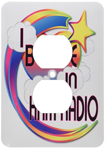 3dRose lsp_166552_6 Ham Radio Cute Believer Design Outlet Cover -  3D Rose (Home Improvement)
