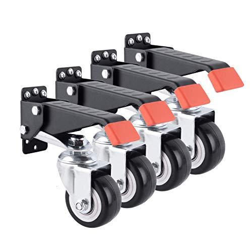 KKmoon - Ruedas para banco de trabajo (giro de 360 grados, para manualidades, con capacidad de carga de 60 kg)