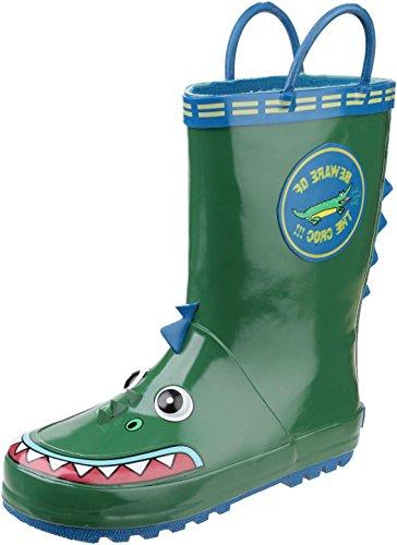 Cotswold Kinder Mädchen Gummistiefel Regenstiefel Wasserdicht Stiefel Motiv Krokodil 23