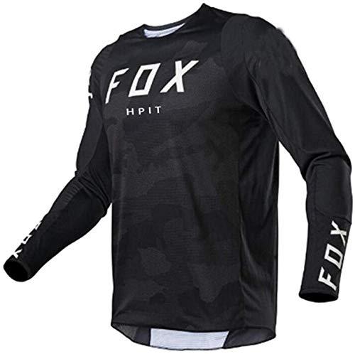 Jersey de Bicicleta de montaña Enduro, Jersey de Bicicleta Grande, Jersey de Motocross Hombre MTB Jersey de Descenso MX Ciclismo Mountain Hpit Fox Moto Jersey de Secado rápido XS