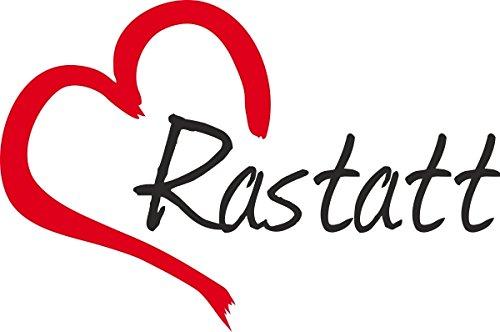 Autocollant de voiture  RASTATT  Ville dAllemagne, Sticker ca.9x14cm découpé