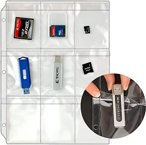 StoreSMART - Plastic Pages - Memory (SD) Cards and Flash Drives - Top Load with Flaps - for 3-Ring Binders - 5 Pack - RMSTWPF-MEMRY-5