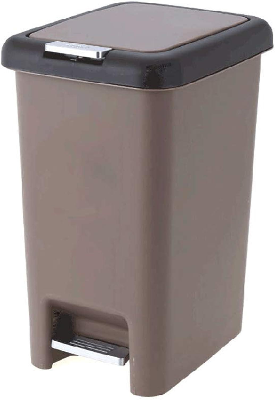 las mejores marcas venden barato TangMengYun Gran Capacidad Pedales Pedales Pedales Creativos De Basura Portátil, Cubos De Plástico para Sala De Estar De Oficina (Color   marrón, tamao   10L)  Ahorre hasta un 70% de descuento.