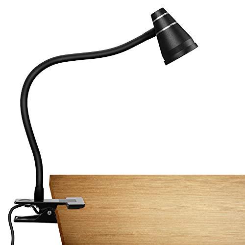 Luz de Lectura LUXJET, Luz de Clip Enchufable, 3 Modos, 2 Tipos de Conmutación de Intensidad de Luz, Clip de Luz Deportiva Flexible de 360 °, Uso de Lectura Nocturna, Lectura de Niños, Cabecera