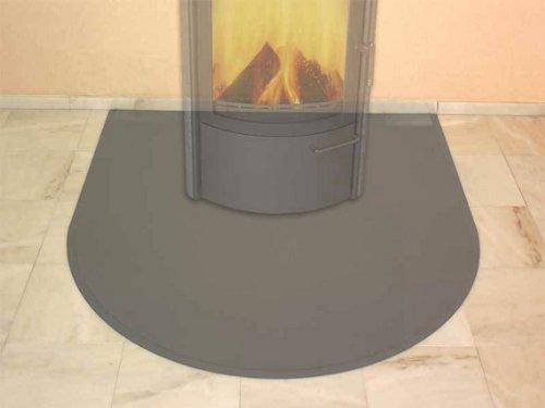 HARK Blechbodenplatte 1230 x 1300 x 1,5 mm halbrund Titan