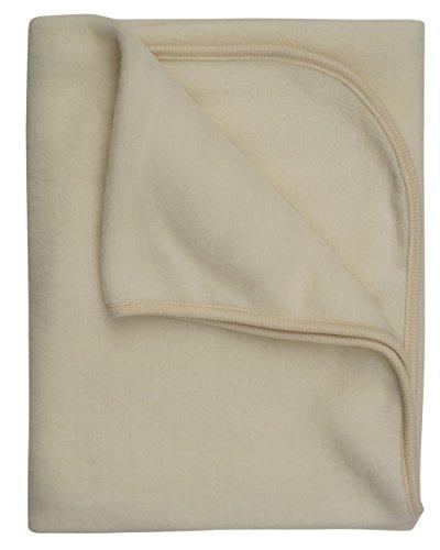 Cosilana, Kinder/Baby Decke Fleece, 80x100 cm, 60% Wolle (kbT), 40% Baumwolle (KBA) (80x100, Natur)