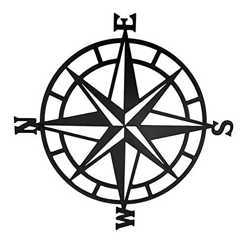 Yoye Metall Wandkunst Kompass Raum Dekor Nautische Dekoration Dekorative Kompass Dekoration Dekoration Schlafzimmer Wohnzimmer Garten Büro Wand Hanging Beach Thema
