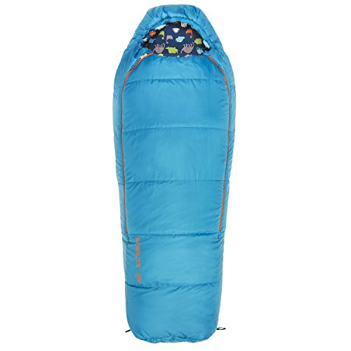 Kelty Woobie 30 Degree Kids Sleeping Bag, Blue, Short, Stuff Sack Included - Children's Sleeping Bag Ideal for Sleepovers, Camping, Backpacking and More