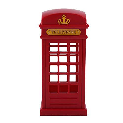 Aukson Lámpara de Noche, Cabina de teléfono Retro de Londres, lámpara de Mesa LED, Sensor táctil Amarillo, Luces LED para decoración de Dormitorio