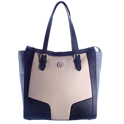 Tommy Hilfiger handtas Miss Tommy Tote Colourblok AW0AW03449 901 Oatmeal