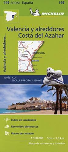 Mapa Zoom Valencia y alrededores, Costa del Azahar: Straen- und Tourismuskarte 1:150.000: 149 (Mapas Zoom Michelin)