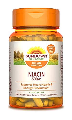 Sundown Niacin 500 mg, 200 Time Release Caplets