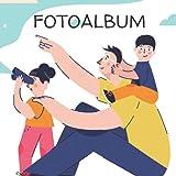 Fotoalbum: Das einzigartige Erinnerungsalbum für deinen Vater   Fotoalbum passend für 50 Fotos 10x15 cm   100 Seiten   21cm x 21cm Format, glänzendes Softcover
