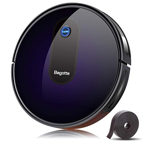 Bagotte Robot Vacuum,Upgraded 2000Pa Strong Suction Robotic Vacuum Cleaners,Automatic Carpet Boost,2.7in Thin,Super Quiet,Self-Charging with Boundary Strips,for Hardwood Floor Carpet Tile Pet Hair